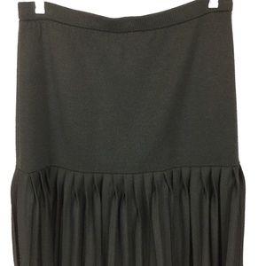 St. John Santana Knit Pleated Skirt